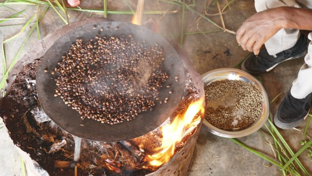 Afternoon coffee ceremony near Aricha, Yirga Chefe, Ethiopia, 2018.