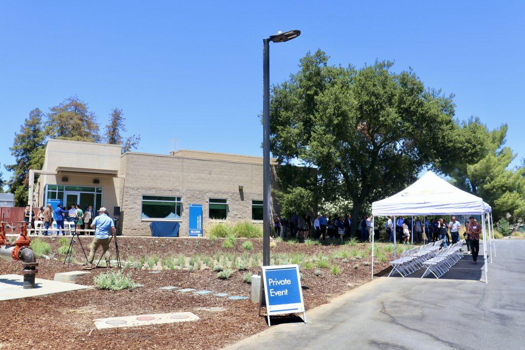 The UC Davis Coffee Center building awaits its dedication. Photo courtesy of UC Davis.